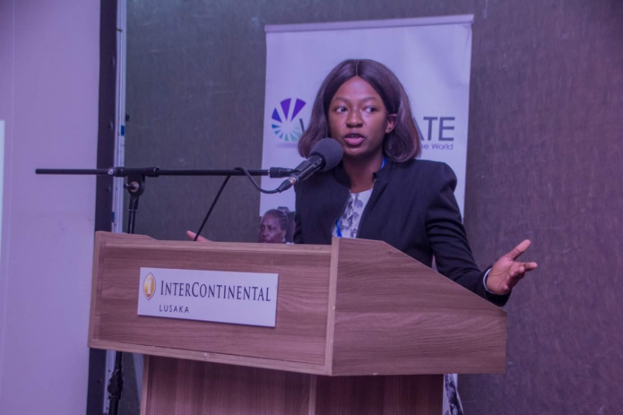 Florence Mulenga making her presentation