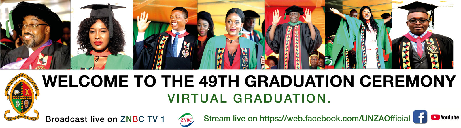 The 49th Graduation Ceremony, University of Zambia. Virtual Graduation