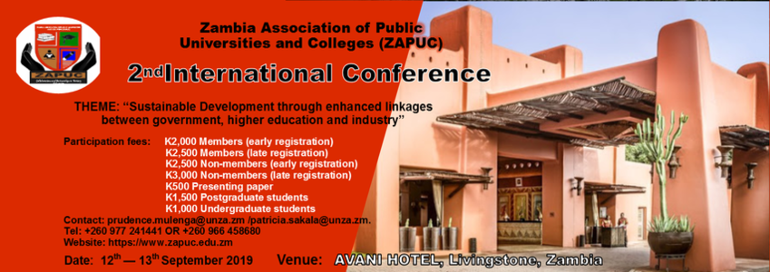 2nd ZAPUC International Conference at AVANI Hotel, Livingstone