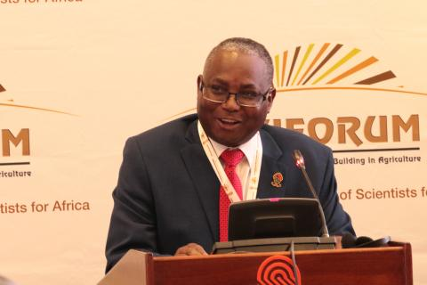 UNZA Vice-Chancellor, Prof. Luke Mumba, delivers his key note speech during the Sixth African Higher Education Week & RUFORUM Biennial Conference in Nairobi, Kenya.