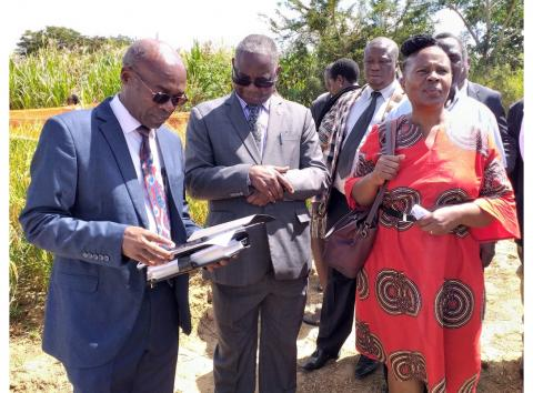 UNZA Vice-Chancellor, Prof Luke Mumba and Deputy Vice-Chancellor, Prof. Enala Tembo-Mwase tour the School of Agricultural Sceinces