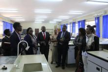 Minister of Higher Education touring the lab at Ridgeway Campus