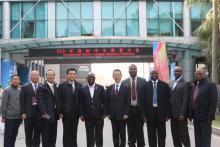 2019 International Chinese Education Conference, UNZA Vice Chancellor Professor Luke Mumba with a delegation from Zambia and strategic partners from the Government of China and Hebei University of Economics and Business (HUEB)