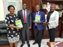Dr Francis Mangeni Donates 10 Copies of his Book to UNZA